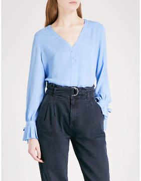 Claudie Pierlot Pleated-cuff crepe blouse