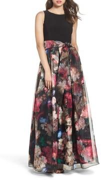 Eliza J Women's Jersey & Organza Gown