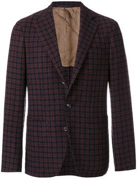 Caruso check blazer