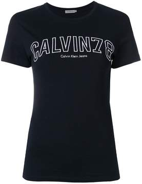 Calvin Klein Jeans logo embroidered T-shirt