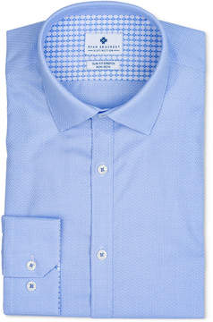 Ryan Seacrest Distinction Men's Ultimate Extended Sizing Slim-Fit Non-Iron Performance Stretch Light Blue Dobby Dress Shirt, Created for Macy's