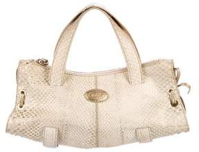 Tod's Small Snakeskin Handle Bag