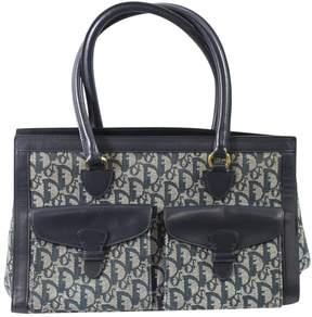 Christian Dior Vintage Blue Cotton Handbag