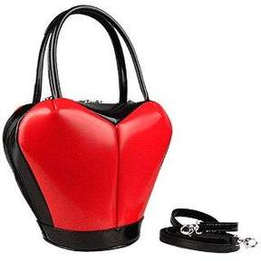 Fontanelli Heart Shape Italian Polished Leather Handbag
