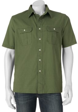 Croft & Barrow Men's Classic-Fit Crosshatch Button-Down Shirt