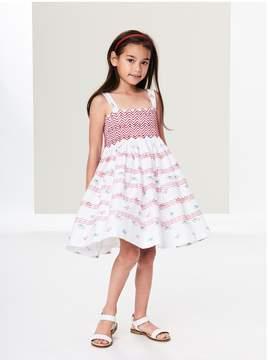 Oscar de la Renta Kids Kids | Tossed Flowers Smocked Cotton Dress | 5 years