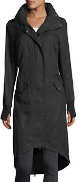 Blanc Noir Long Hooded Anorak Jacket