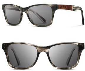 Shwood Men's 'Canby' 53Mm Polarized Sunglasses - Pearl Grey/ Elm Burl/ Grey