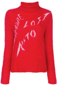 Aalto graphic roll neck jumper