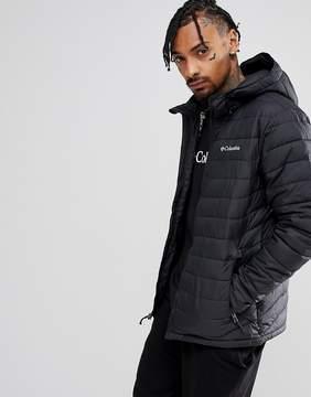 Columbia Powder Lite Puffer Jacket Hooded in Black
