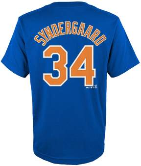 Majestic Boys 4-18 New York Mets Noah Syndergaard Player Name and Number Tee