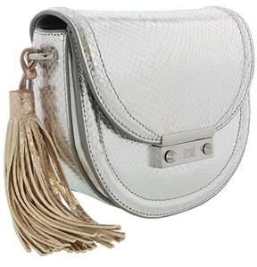 Roberto Cavalli Small Shoulder Bag Linda 001 Silver Shoulder Bag.