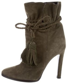 Etro Suede Wrap-Around Ankle Boots