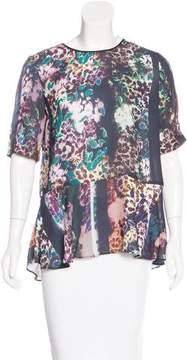 Clover Canyon Floral Print Short Sleeve Top