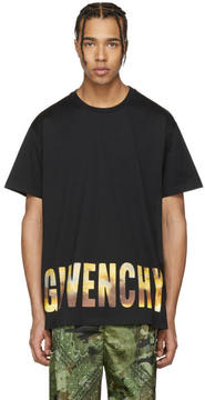 Givenchy Black Logo Horizon T-Shirt
