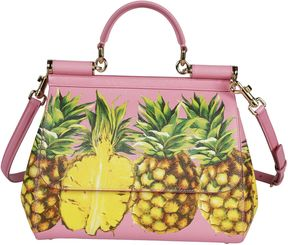 Dolce & Gabbana Pineapple Print Tote - PINK - STYLE