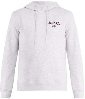 A.P.C. US Star and logo-print hooded sweatshirt