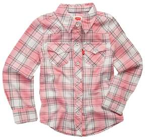 Levi's Toddler Girl Plaid Button Front Shirt