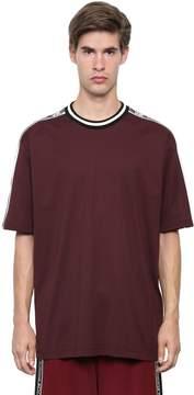 Dolce & Gabbana Logo Tape Cotton Jersey T-Shirt