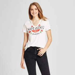 Fifth Sun Women's Nothing But Good Times Destructed Graphic T-Shirt Juniors') Ivory