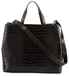 French Connection Alana Crocodile-Embossed Tote Bag