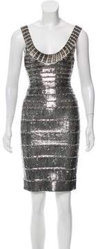Herve Leger Embellished Bandage Dress