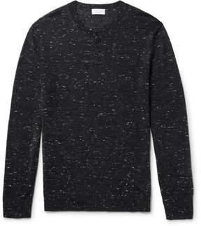 Club Monaco Mélange Wool-Blend Henley Sweater