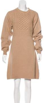 Chloé Wool Metallic-Accented Dress w/ Tags