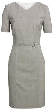 BOSS Davilla Stretch Wool Sheath Dress