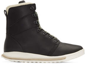 Rick Owens Black Hood Robber Edition Dirt Grafton Lace-Up Boots