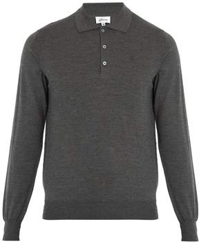 Brioni Long-sleeved wool polo shirt