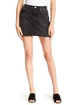 Blank NYC BLANKNYC Stud Detail Frayed Denim Skirt
