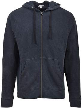 James Perse Blue Hooded Zip-up Jacket