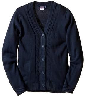 Nautica Boyfriend Sweater with Seed Stitch Girl's Sweater