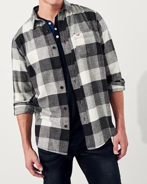 Hollister Stretch Plaid Flannel Shirt