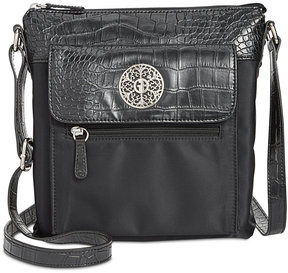 Giani Bernini Croc-Embossed Crossbody, Created for Macy's