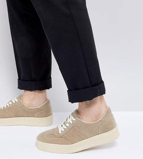 Asos Sneakers In Stone With Chunky Sole