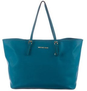 Michael Kors Leather Shopper Tote - BLUE - STYLE
