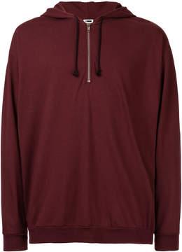 H Beauty&Youth zip detail hoodie