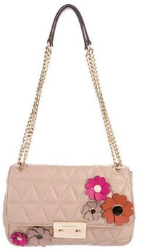 Michael Kors Sloan Large Floral Appliqué Bag - NEUTRALS - STYLE