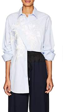 Cédric Charlier Women's Embroidered Asymmetric Cotton Shirt