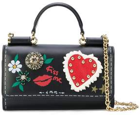 Dolce & Gabbana mini Von bag with painted style details - BLACK - STYLE