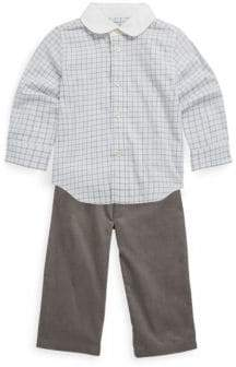 Ralph Lauren Baby's Two-Piece Tattersal Twill Shirt & Corduroy Trousers Set
