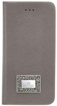 Swarovski Versatile Smartphone Book Case with Bumper, Samsung Galaxy S 7, Gray