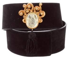 Lanvin Embellished Suede Waist Belt