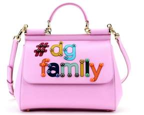 Dolce & Gabbana Pink Family Sicily Tote - PINK - STYLE
