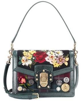 Dolce & Gabbana Lucia snakeskin-trimmed shoulder bag