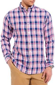 Daniel Cremieux Plaid Linen Long-Sleeve Woven Shirt