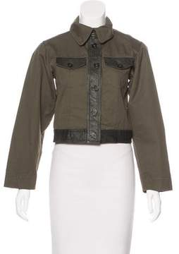 Damir Doma Jurua Leather-Trimmed Jacket w/ Tags