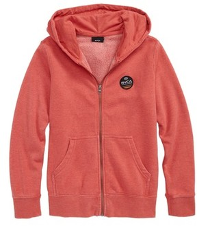 RVCA Boy's Machine Sun Wash Zip Hoodie